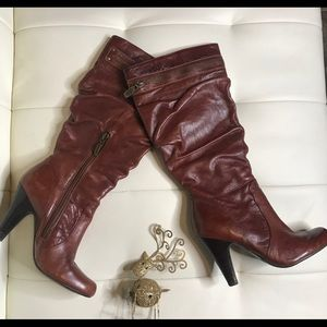 Guess Women's Brown Genuine Leather Boots Sz 5M